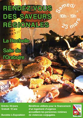 Photo : La Rochelle : salon des saveurs au bénéfice des femmes victimes de violences, samedi 23 mars 2013