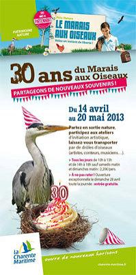 Photo : Pôles nature Charente-Maritime : les 30 ans du Marais aux oiseaux, île d'Oléron 14 avril-20 mai 2013