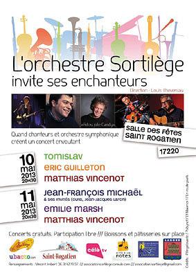 Photo : Concerts à St Rogatien : l'orchestre Sortilège invite ses enchanteurs vend. 10 et sam 11. mai 2013