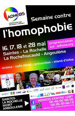 Photo : La Rochelle - Saintes - Angoulême : semaine contre l'homophobie 17 et 18 mai 2013