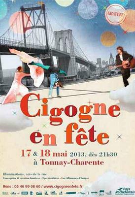 Photo : Pays Rochefortais : Cigogne en fête, soirées artistiques à Tonnay-Charente 17 et 18 mai 2013