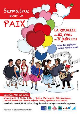 Photo : Semaine pour la paix à La Rochelle jusqu'au vendredi 7 juin : rencontres, concerts, spectacles...