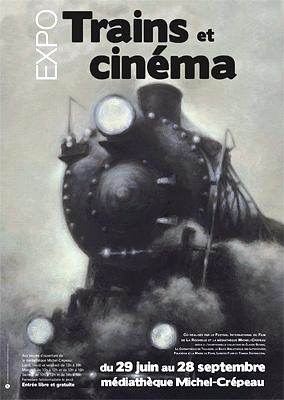 Photo : Trains et cinéma : exposition et projections à la Médiathèque Michel Crépeau, été 2013