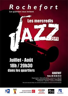 Photo : L'été à Rochefort : les mercredis jazz, concerts juillet-août 2013 de 18h à 20h30