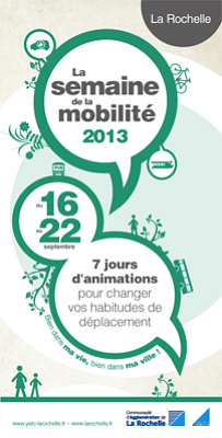 Photo : La Rochelle Agglomération : bougez autrement lors de la semaine de la mobilité, 16-22 septembre 2013