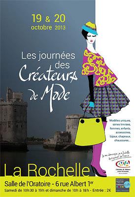 Photo : La Rochelle : 4e Journées des créateurs de mode, samedi 18 et dimanche 19 octobre 2013