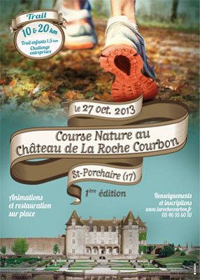 Photo : Trail en Charente-Maritime : course nature au Château de la Roche Courbon, dimanche 27 octobre 2013