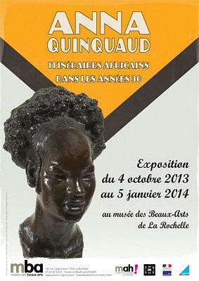 Photo : La Rochelle : sculptures africaines d'Anna Quinquaud au musée des Beaux-Arts jusqu'au 5 janvier 2014