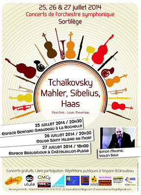 Photo : La Rochelle, Niort, Châtelaillon : concerts symphoniques Sortilège 25, 26 et 27 juillet 2014