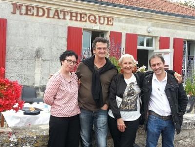 Photo : Quatre auteurs, un petit déjeuner