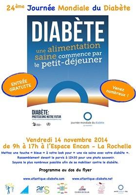 Photo : La Rochelle santé JMD : Journée mondiale du diabète, vendredi 14 novembre 2014 - Espace Encan