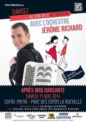 Photo : La Rochelle : trophées de l'accordéon ; grand thé dansant avec Jérôme Richard, sam. 15 novembre 2014