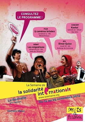 Photo : La Semaine de la solidarité internationale à la Rochelle jusqu'au mardi 25 novembre 2014