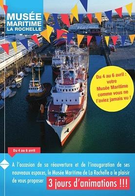Photo : Musée Maritime de La Rochelle : nouveaux espaces à terre, grand week-end inaugural 4-6 avril 2015