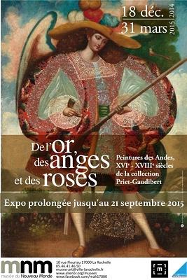 Photo : La Rochelle Expo : de l'or, des anges et des roses au Musée du Nouveau-Monde jusqu'au 21sept. 2015