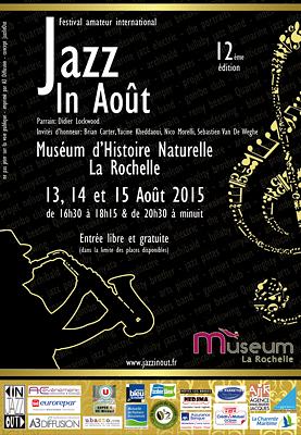 Photo : Jazz in Août à La Rochelle : festival gratuit dans les jardins du Muséum du 13 au 15  août 2015