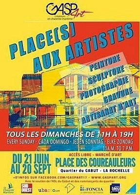 Photo : Place(s) aux artistes au Gabut à La Rochelle : RV tous les dimanches jusqu'au 20 septembre 2015