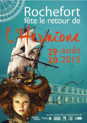 Photo : Le Grand retour de l'Hermione à Rochefort : fête historique samedi 29 et dimanche 30 août 2015