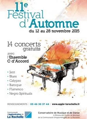 Photo : La Rochelle Agglo - Festival musical d'Automne : 14 concerts gratuits du 12 au 28 novembre 2015
