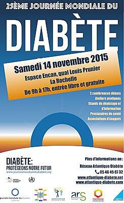 Photo : La Rochelle santé JMD : Journée mondiale du diabète, samedi 14 novembre 2015 - Espace Encan