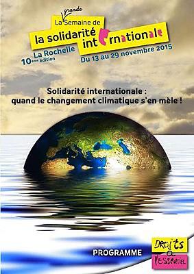 Photo : La Semaine de la solidarité internationale à la Rochelle du 13 au samedi 28 novembre 2015