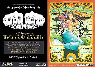 Photo : La Rochelle re-opening à La Sirène : tattoo, arts, djs, concerts les 16-17-18 sept. 2016 !
