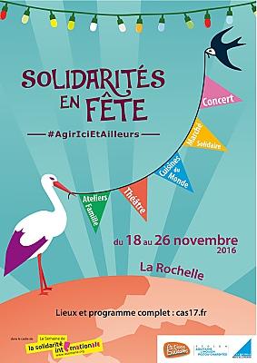 Photo : La Rochelle : solidarités en fête du 18 au 26 novembre 2016