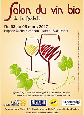 Photo : La Rochelle Agglo : Salon du vin bio à Nieul-sur-Mer du vendredi 3 au dimanche 5 mars 2017