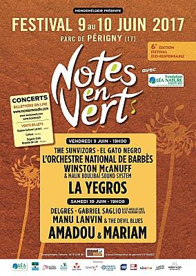 Photo : La Rochelle Agglo : festival Notes en Vert, 8 concerts à Périgny les 9 et 10 juin 2017