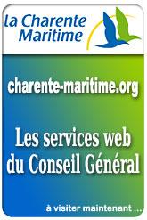 Site: charente-maritime.org : Les sevices web du Conseil Général