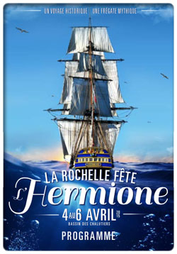 La Rochelle f�te l'Hermione : Du 4 au 6 avril, le bassin des Chalutiers c�l�bre le patrimoine maritime le temps d'un week-end exceptionnel...