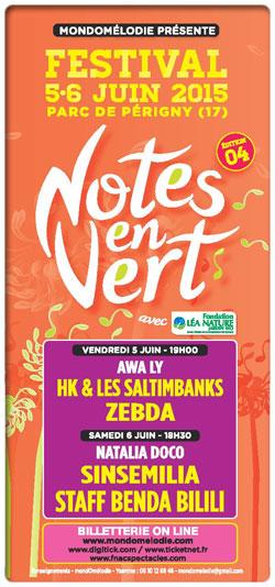 Festival Notes en Vert 2015 le 5 et 6 juin Parc de P�rigny (17)